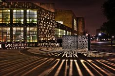 "University of Houston Light Sculpture (via jade001)    The art installation is named ""A,A"" created by Jim Sanborn.  www.uh.edu/uhtoday/2004/06jun/062804sanborn.html"