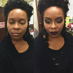 Before & after on my beautiful friend, Claudette!