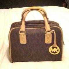 Michael Kors purse small, cute, signature tan MK logo Michael Kors Bags