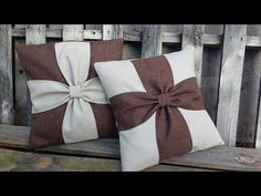 Beautiful Flower Cushion Cover Cutting and Stitching Bow Pillows, Burlap Pillows, Sewing Pillows, Decorative Throw Pillows, Crown Royal Quilt, Bedroom Bed Design, Rustic Curtains, Patchwork Bags, Quilted Pillow