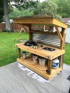 Pallet Wooden Patio Kitchen