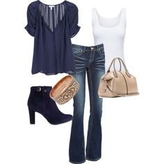 """fall outfit"" by candace-cook-cushman on Polyvore"