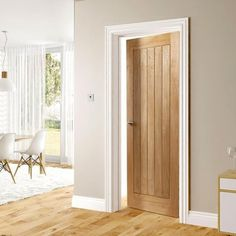 Choosing interior doors for the home can be a daunting process. Like many types of wood doors, oak interior doors have many options to choose from. Oak Interior Doors, Fire Doors, Windows And Doors, Cottage Door, New Homes, Doors Interior, Oak Doors, Wood Doors Interior, Internal Oak Doors