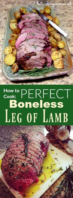 Perfect Boneless Leg of Lamb Roast Recipe and Instructions - Ostern Essen Boneless Lamb Leg Recipe, Boneless Lamb Roast, Lamb Roast Recipe, Roast Lamb Leg, Lamb Chops, Recipe For Lamb Leg, Lamb Roast Marinade, Cooking Lamb Roast, Passover Lamb Recipe