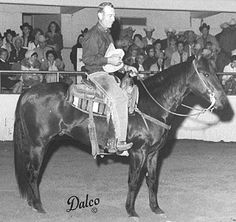 The great Doc O'Lena - Shorty Freeman and Doc O'Lena marked 220.5 to win the 1970 NCHA Futurity, and it was the first time a horse had topped both go-rounds, the semi-finals and the finals. Doc O'Lena was bred by Dr. & Mrs. Stephen Jensen and owned by Adrian Berryhill.