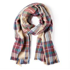Sole Society Wool plaid scarf (140 BRL) ❤ liked on Polyvore featuring accessories, scarves, tan, tartan scarves, tartan plaid shawl, sole society, wool shawl and plaid shawl