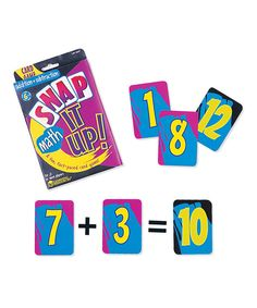 Look at this Snap It Up Addition & Subtraction Card Game on #zulily today!