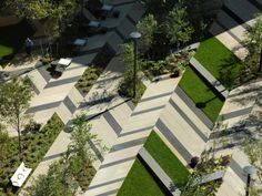 Architectures Modern Urban Landscape Architecture Project Idea With Garden And Park Bench Landscape Architect: A Kind of Popular Job