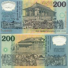 Sri Lanka 200 Rupees 1998 - Progress of Sri Lanka during 50 years of Independence (1948-1998); The National heritage.