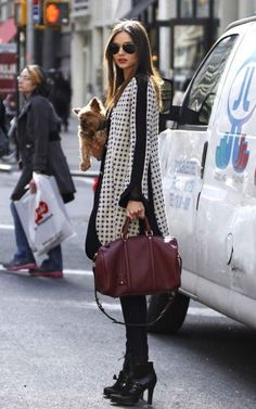 That coat! Modern Style Icon: Miranda Kerr via La Dolce Vita