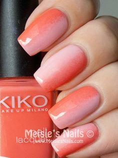 Gradient Polish! Wanna see more nail looks? Join http://bellashoot.com (social beauty hub to talk/share beauty) or click image!  | See more at http://www.nailsss.com/colorful-nail-designs/3/