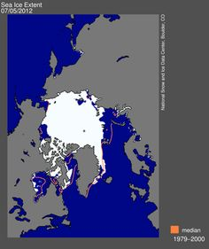 Data from the National Snow and Ice Data Centre shows a record low for June sea ice.