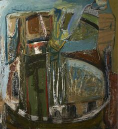 Peter Lanyon Saracinesco 1953 Oil on board Plymouth City Museum and Art Gallery Abstract Landscape, Abstract Art, Bristol Museum, Museum Art Gallery, School Painting, Art Uk, Painting Lessons, Your Paintings, Contemporary Paintings