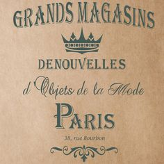 Grands Magasins Stencil for Painting Signs Crafting DIY Wall decor