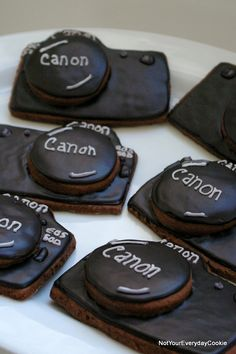 Camera Cookies based on Cookie Crazie's Camera Cookies