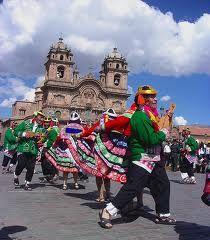 Dances in the city of Cuzco
