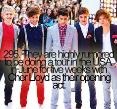 Omg. Cher might open for them? Can I meet both 1D and Cher? I would be so happy. xx (: