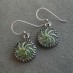 Spring Jewelry Swirl Earrings Woodland Earrings by pink80sgirl