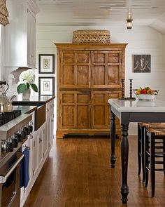 Armoir in the kitchen via Loft and Cottage blog.