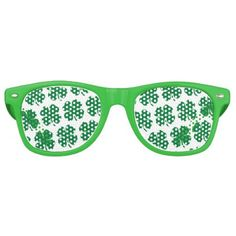 2fe96fd068 Four Leaf Clover St. Pattys Day Pattern Retro Sunglasses - st. patricks day  gifts