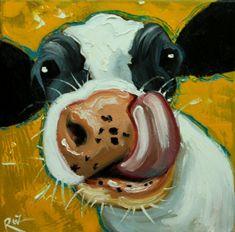 Art by roz easy paintings, animal paintings, animal drawings, art drawings, Cow Paintings On Canvas, Cow Canvas, Farm Paintings, Easy Canvas Painting, Animal Paintings, Painting & Drawing, Acrylic Painting Animals, Animal Drawings, Art Drawings
