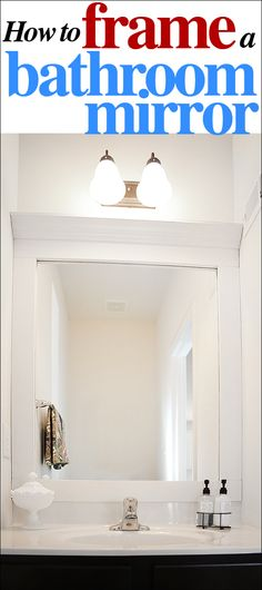 How to frame a bathroom mirror how to nest for less - Bathroom Ideas On Pinterest Striped Walls Medicine