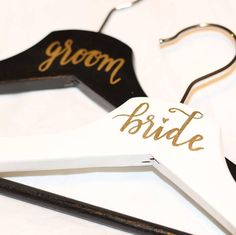 great vancouver wedding Aren't these bride and groom hangers cute? I made them…