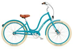 Electra Townie Balloon 3i EQ Azure Ladies with LED Lights