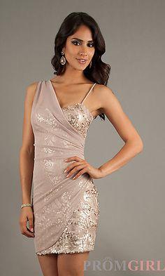 Short Sequin Embellished Dress at PromGirl.com