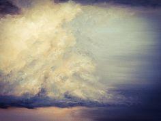 Thunderhead. Detail Oil on Canvas by Nial Adams. From Big Norfolk Skies