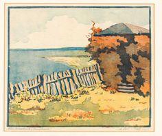 Wimpelkette - Farbholzschnitt - Auguste Lind-Graf