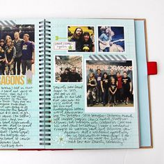 A way to keep a diary- that actually makes me want to keep a diary. A mix of a scrapbook with occasional photos, and writing. Full tutorial