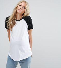 ASOS Maternity - Nursing ASOS Maternity NURSING Color Block T-Shirt with Zip Detail