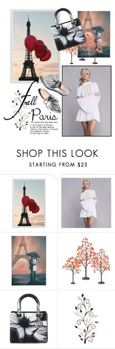 """Fall in Paris"" by consuelor on Polyvore featuring Mode, Pottery Barn, Graham & Brown, Department 56, Loeffler Randall, Christian Dior und fallgetaway"