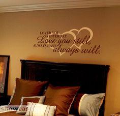 24 Trendy Home Decoratie Quotes Vinyl Wall Art, Wall Decals, Bedroom Wall, Bedroom Decor, Master Bedroom, Letter Wall, Trendy Home, First Home, My Room