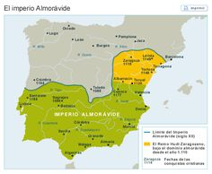 El Imperio Almorávide Religious Tolerance, Iberian Peninsula, Early Middle Ages, Cala, Spain And Portugal, European History, Historical Maps, Planer, Spanish
