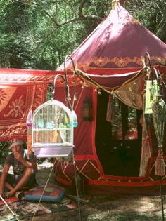 my travelling gypsy tent custom made by my friend Andy