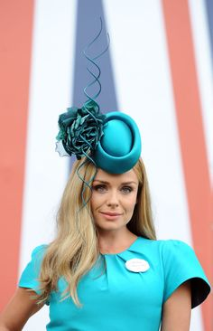 Katherine Jenkins at Royal Ascot 2014 wearing a Philip Treacy hat.