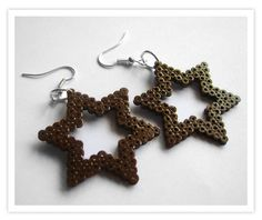 Star Earrings hama mini beads -  Pixel Art Shop