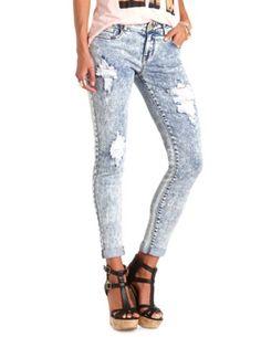 """Refuge """"Boyfriend"""" Acid Wash Destroyed Jeans: Charlotte Russe"""