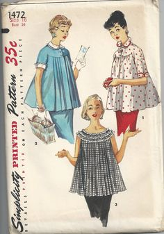 Vintage Simplicity Maternity Patterns