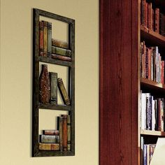 metal library wall art