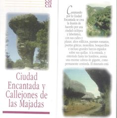 Folleto turístico de la Ciudad Encantada y los Callejones de Las Majadas en Cuenca, con lugares de interés y planos de recorridos. Patronato de Desarrollo Provincial de Cuenca, 1997. #Cuenca #Turismo