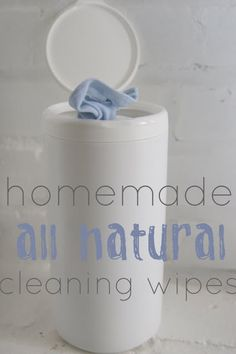 "Homemade all natural cleaning wipes. I basically do this already, only in a spray bottle with Dr. Bronner's Sal Suds. I bought the ""expensive"" bottle over 3 yrs. ago and it's still mostly full!"
