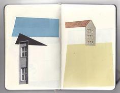 Houses collage by Anthony Zinonos...