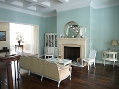 Mod Vintage Life: Sherwin Williams Rainwashed- I will paint a room this color in my future!
