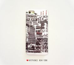 NYC buildings case iPhone case 5 4 Samsung Galaxy S3 S4 New York Phone case iPhone 5 4/4s Samsung Note 2 NYC case Drawing NY phone Note 3 silver cup Astoria