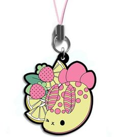 Tasty Peach Studios — Strawberry Lemonade Seabunny Metal Charm