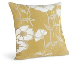 Poppy 18w 18h Pillow in Gold - Pillows - Accessories - Room & Board