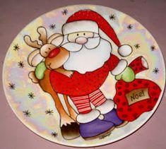 Risultati immagini per porcelana natal Christmas Tree Painting, Christmas Drawing, Christmas Art, Christmas Projects, Christmas Decorations, Christmas Ornaments, China Painting, Ceramic Painting, Diy Painting
